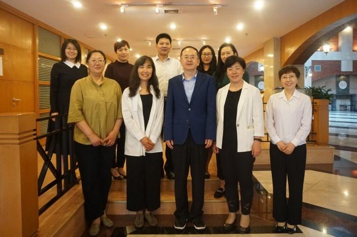 中国民用航空局国际司领导来我校国际组织胜任力发展中心商谈合作